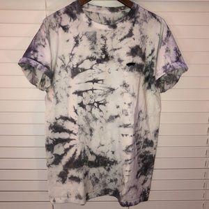 Grey and white tie dye Vans t shirt